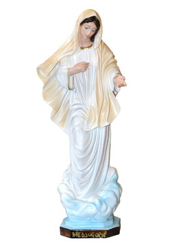 Our Lady of Medjugorje resin statue cm. 30