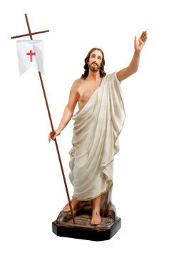 Jesus resurrection statue cm. 130