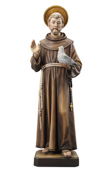 Saint Francis of Assisi woodcarving (model #2)