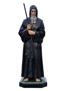Saint Francis of Paola statue cm. 170