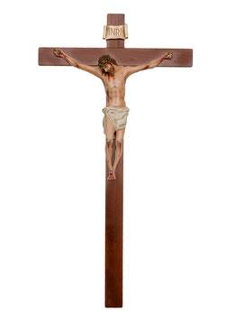 Crucifix  cm. 180 x 105 with fiberglass statue