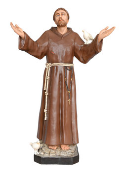 Saint Francis of Assisi statue cm. 174