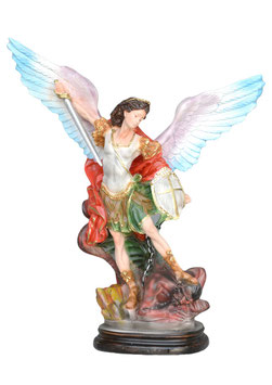 Saint Michael statue cm. 37