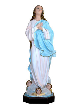 Virgin Mary assumption by Murillo resin statue cm. 88