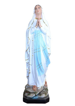 Our Lady of Lourdes fiberglass statue cm. 183