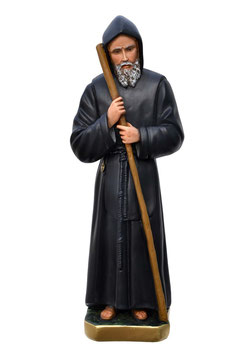 Saint Francis of Paola statue cm. 62