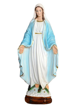 Our Lady of Grace resin statue cm. 35