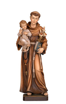 Saint Anthony of Padova woodcarving