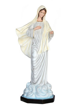 Our Lady of Medjugorje fiberglass statue cm. 160
