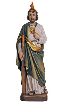 Saint Jude woodcarving