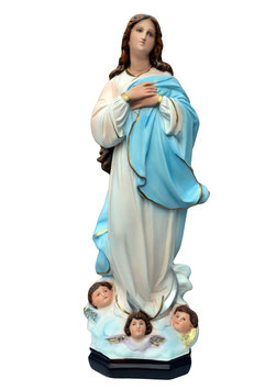 Virgin Mary assumption by Murillo resin statue cm. 63