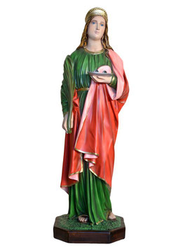 Saint Lucy statue cm. 85