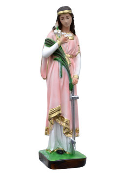 Saint Philomena statue cm. 30