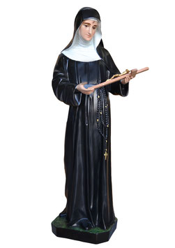 Saint Rita of Cascia statue cm. 100