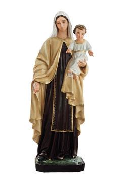 Our Lady of Mount Carmel fiberglass statue cm. 170