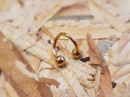 Hufeisen Spiralen 1.2mm/8mm, gold