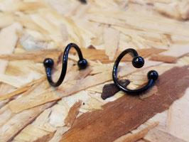 Hufeisen Spiralen 1.2mm/8mm, schwarz