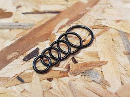 Segmentring schwarz, 1,2mm
