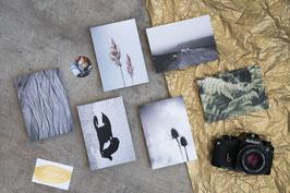 Set aus 6 Postkarten