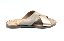 clic! Slipper Velour-kupfermetallic