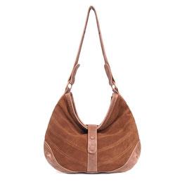 Yoko - tan brown large leather shopper crossbody bag