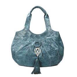 Sumba  - Sea green large leather shopper handbag
