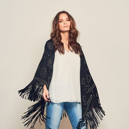 Ruby suede shawl extra large - Black