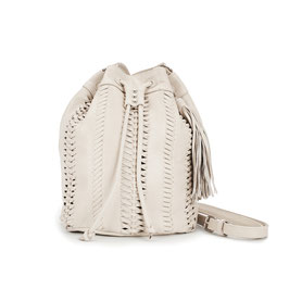 Drifter leather crossbody - cream
