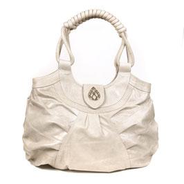 Bali - Ivory cream large leather shopper handbag