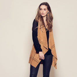 Leana vest with embroidery / M - honey