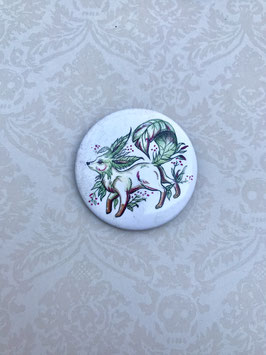 badge broche renard végétal Phyllali
