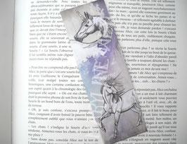 """marque page """"licorne blanche"""""""