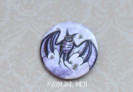 badge broche chauve souris
