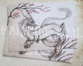 Carte Postale dragon d'Asie
