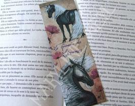 """marque page """"licorne noire"""""""