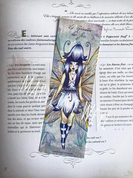 marque page fée lapis-lazuli