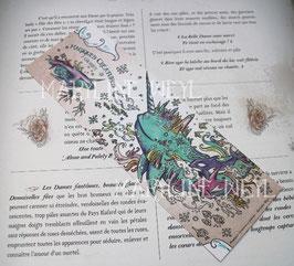 """marque-page coloriage """"magiques créatures à colorier"""" narval"""