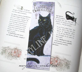 "marque page ""chat noir"""