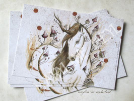 carte postale licorne des bois