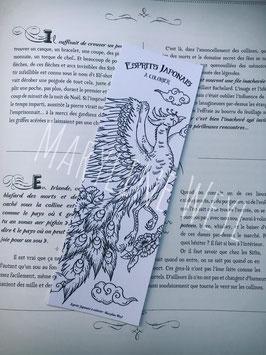 """Coloriage marque-page Phénix à colorier """"esprits japonais à colorier"""""""
