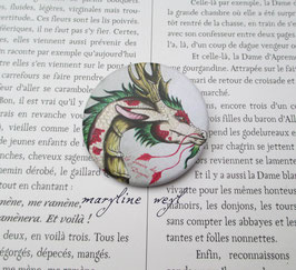badge broche dragon d'Asie