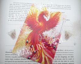 """carte postale """"le grimoire des animaux fabuleux""""-phénix"""
