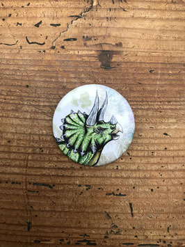 badge broche dinosaure tricératops