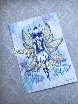 carte postale fée Lapis-lazuli