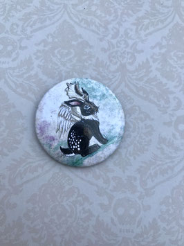 badge broche lapin Wolpertinger - Jackalope