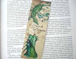 """marque page """"dragon vert"""""""