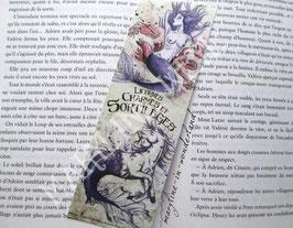 """marque page """"licorne mauve et sirène"""""""