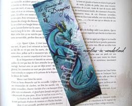 "marque page ""dragon d'Asie bleu"""