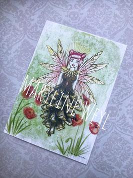 carte postale fée Quartz Rose