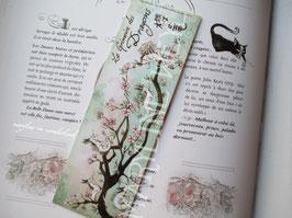 "marque page ""dragon d'Asie cerisier"""